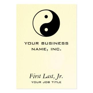 Yin Yang Large Business Card