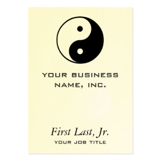 Yin Yang Large Business Cards (Pack Of 100)