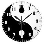 yin yang large clock