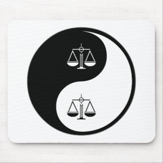 Yin Yang Law Mouse Pad