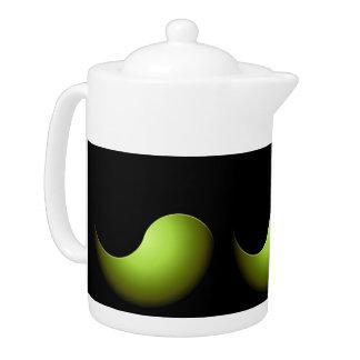 yin yang - lime teapot