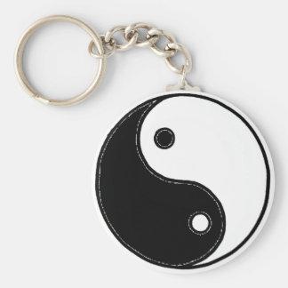 Yin Yang Llavero Redondo Tipo Pin