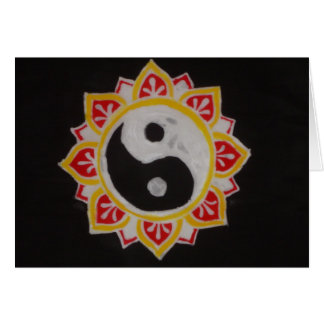 """""""Yin Yang Lotus"""" Greeting Card"""