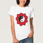 Yin Yang Lotus Flower T Shirt