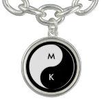 Yin Yang Lovers Initials Bracelet