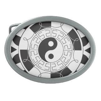 Yin Yang Madolin Oval Belt Buckle