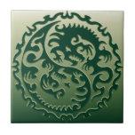 Yin Yang Magical Dragons 2 Ceramic Tile