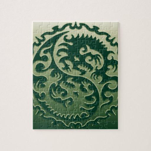 Yin Yang Magical Dragons 2 Jigsaw Puzzles