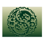 Yin Yang Magical Dragons 2 Postcard
