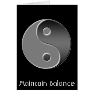yin-yang, Maintain Balance Card
