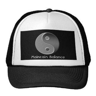 yin-yang, Maintain Balance Trucker Hat