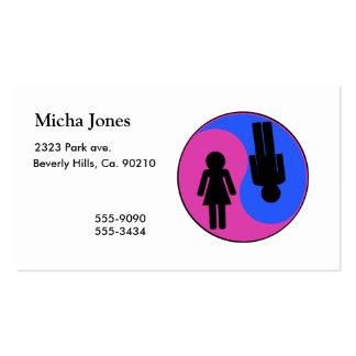 Yin Yang Man & Woman Business Cards