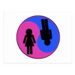 Yin Yang Man & Woman Postcard