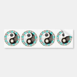 Yin Yang Mandala Bumper Sticker