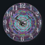 "Yin Yang Mandala in Purple Colors Large Clock<br><div class=""desc"">Yin Yang Mandala in Purple Colors</div>"