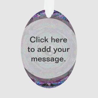 Yin Yang Mandala in Purple Colors Ornament