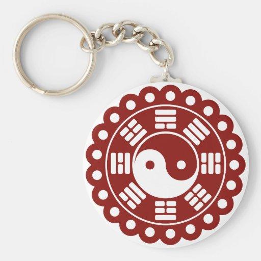 Yin Yang Mandala Key Chains