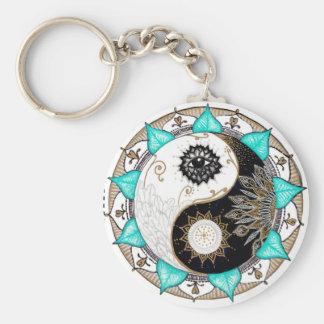 Yin Yang Mandala Keychain