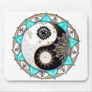 Yin Yang Mandala Mouse Pad