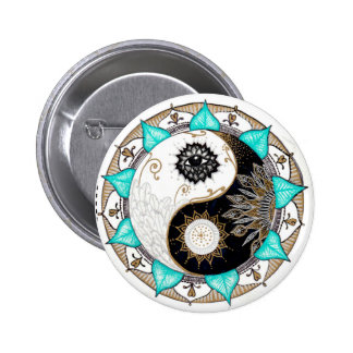 Yin Yang Mandala Pinback Button