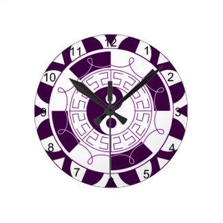Yin Yang Mandala Round Clock