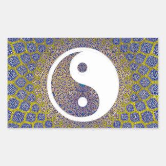 Yin Yang Mandala Rectangular Sticker