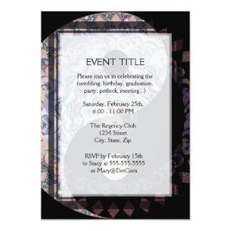 Yin Yang Mandala Symbol 5x7 Paper Invitation Card