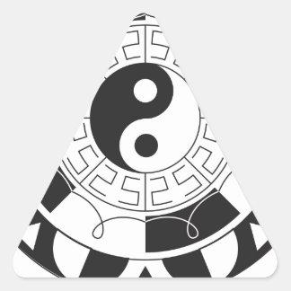 Yin Yang Mandala Triangle Sticker