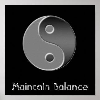 yin-Yang, mantiene la balanza Póster