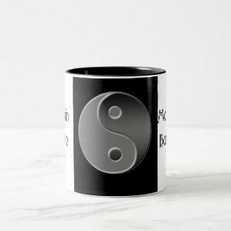 yin-Yang, mantiene la balanza Taza De Dos Tonos