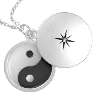 Yin-Yang medallion Round Locket Necklace