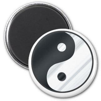 Yin Yang Metal 2 Inch Round Magnet