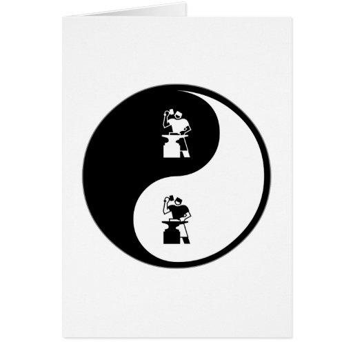 Yin Yang Metal Working Cards