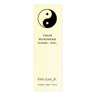 Yin Yang Mini Business Card