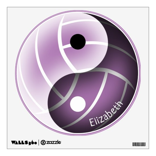yin yang minimal lavender or ANY color volleyball Wall Decal