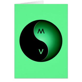 yin yang monogram - green card