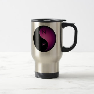 yin yang monogram - pink coffee mug