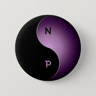 yin yang monogram - purple button
