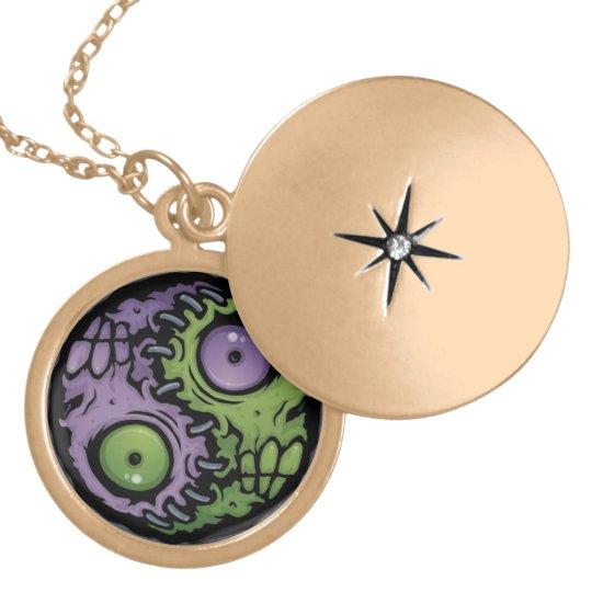Yin Yang Monsters Locket Necklace