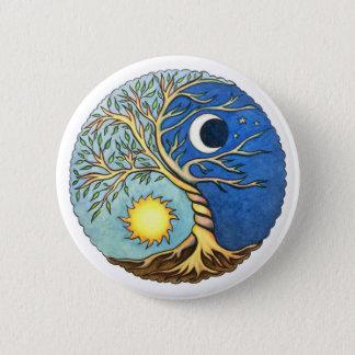 Yin-Yang Moon and Sun Pinback Button