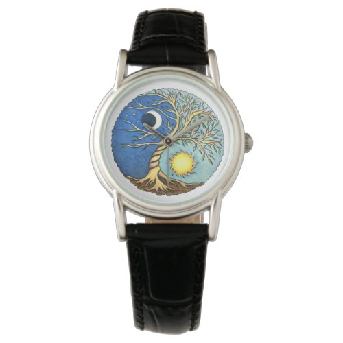 Yin-Yang Moon and Sun Watch