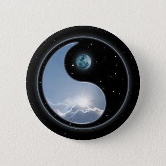 Yin Yang Moon Sun Button