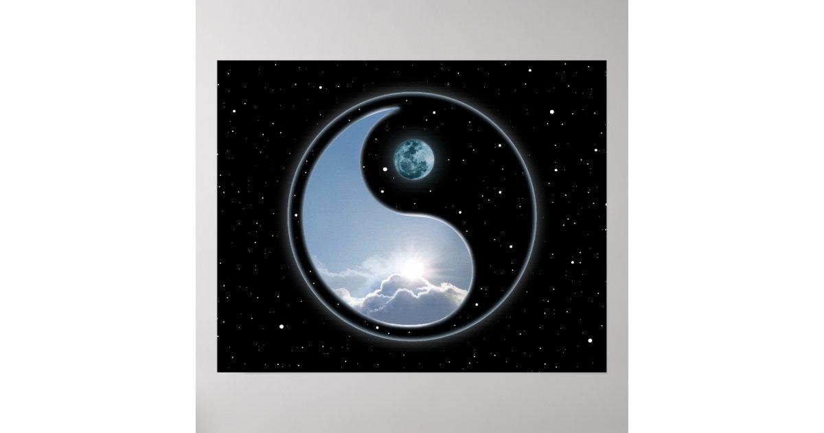 Yin Yang Moon Sun Poster Zazzlecom