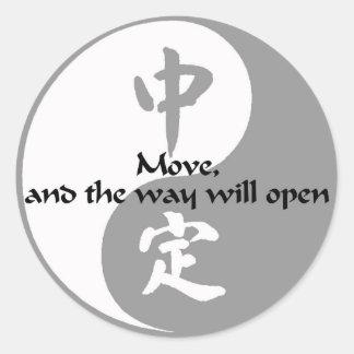 Yin Yang - Move Classic Round Sticker