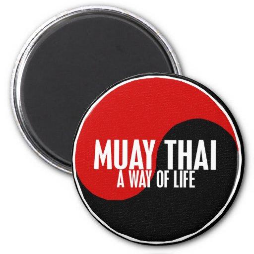 Yin Yang Muay 1 tailandés Imán Redondo 5 Cm