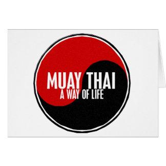 Yin Yang Muay Thai 1 Greeting Card