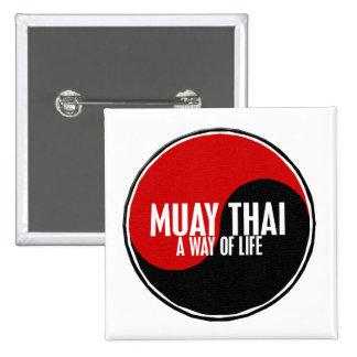 Yin Yang Muay Thai 1 Pinback Button