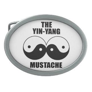 Yin-Yang Mustache Belt Buckle
