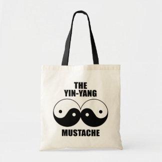 Yin-Yang Mustache Budget Tote Bag
