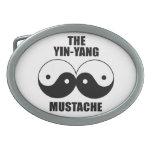 Yin-Yang Mustache Oval Belt Buckles